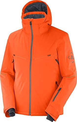 SALOMON Brilliant Jktm Giacca da uomo, Uomo, giacca, LC1399400, rosso arancione, ebano, L