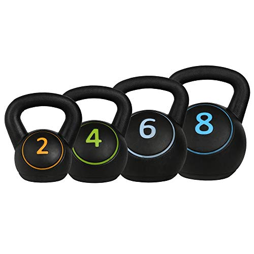 Confidence Fitness Pro 20kg Kettlebell Set - 2kg-4kg-6kg-8kg Kettle Bells