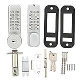 Zinc Alloy Double‑Sided Mechanical Door Locks with Keypads Door Knob, Waterproof Keyless Entry Door Keypad Deadbolt Lock with Handle for Courtyard Door Coded Lock, Easy to Install