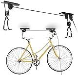 Soporte DE Techo para Bicicleta 30KG Elevador Bici Colgador Gancho POLEAS