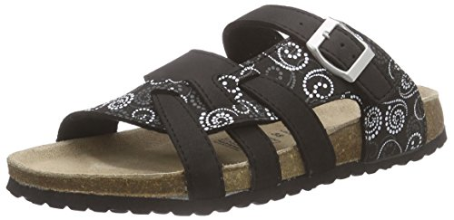 softwaves Damen 274 147 Pantoletten, Schwarz (Black Multi 099), 38 EU