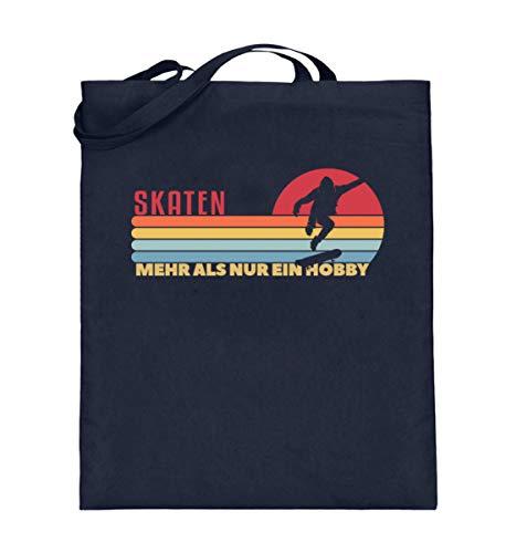 Generisch Bolsa de yute retro para monopatín, monopatín, hobby, vintage, bolsa de algodón, color Azul, talla 38cm-42cm