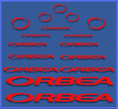 Ecoshirt Q0-B4Q3-BARC Pegatinas Orbea Dr04 Vinilo Adesivi Decal Aufkleber Клей MTB Stickers Bike, Rojo
