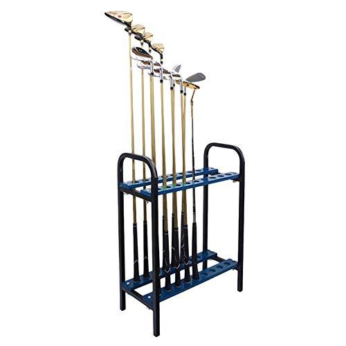 For Sale! lqgpsx Golf Club Display Stand Rack Durable Metal Storage 18 Clubs, Indoor Outdoor Golf Cl...