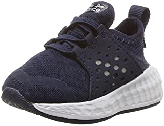 New Balance Boys' Cruz v1 Hook and Loop Running Shoe Navy/White 5 W US Toddler [並行輸入品]