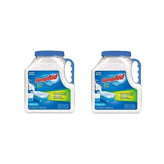 DampRid FG37 Moisture Absorber Refill, 7.5 lb, Fragrance Free 2-Pack 1