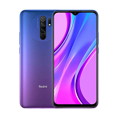 potente Xiaomi Redmi 9 Phone 3GB RAM + 32GB ROM, 6.53inch FHD + Dot Drop Screen, Half Tek Helio G80 Octa Core Processor, 8MP Front y 13MP + 8 MP + 5 MP + 2 MP AI-Rear Camera, Versión global (Morado) también recomendado para casa