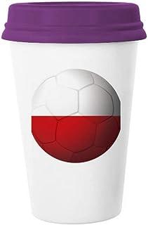 Polen Nationale Vlag Voetbal Voetbal Koffie Mok Glas Aardewerk Keramische Cup Deksel Gift