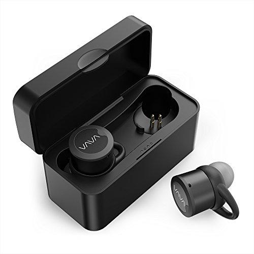 VAVA Bluetooth Kopfhörer True Wireless TWS Bluetooth Headset Earbuds 4.1 mit tragbarer Ladebox eingebautem Mikrofon sicheren Ohrbügel, kompatibel mit iOS & Android
