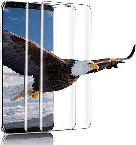 wsiiroon Panzerglas Schutzfolie für Samsung Galaxy S8 Plus, Blasenfrei Anti-Öl Anti-Fingerabdruck Panzerglasfolie, 9h Härte Anti-Kratzen Displayschutzfolie Glasfolie [2 Stück]