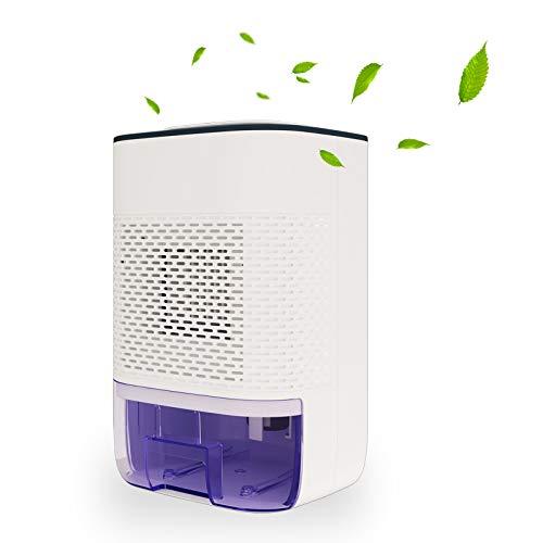 Deumidificatore elettrico 800 ml Mini deumidificatore ultra silenzioso per camera da letto, cantina, casa, garage, armadietto, bagno