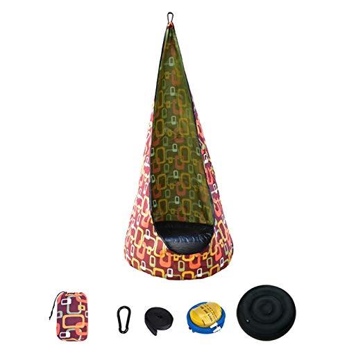 Asiento de columpio Kids Pod con bolsillos laterales, hamaca para silla infantil, para interiores y exteriores, con seguridad de hebilla, resistente
