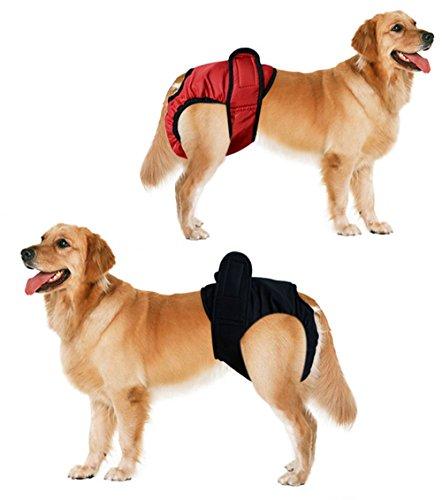 DADA Wiederverwendbar Hund Windeln Sanitär Windel Hose Slip Waschbar Wiederverwendbare Windel Hose, 2Stück