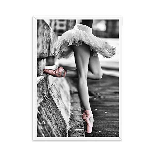 zzlfn3lv Ballerina wandkunst leinwand malerei Bild Dekoration Ballettschuhe Mode Lippen Poster und drucke mädchen Damen Schlafzimmer wohnkultur-kein Rahmen