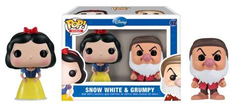 Funko POP! Disney: Blancanieves y los siete enanitos: Blancanieves + Gruñón
