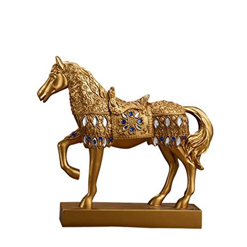 DOGOGO zilveren gouden paard hars standbeeld groot huis kantoor decoratie beeldje dier beeldhouwwerk