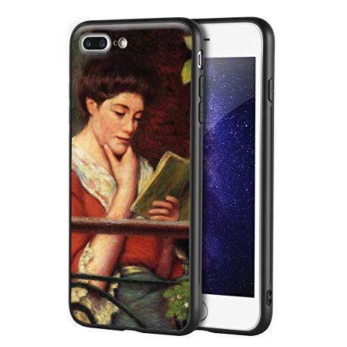 Berkin Arts Federico Zandomeneghi Custodia per iPhone 7 Plus&iPhone 8 Plus/Custodia per Cellulare Art/Stampa giclée UV sulla Cover del Telefono(Mujer At El Balcon 2)