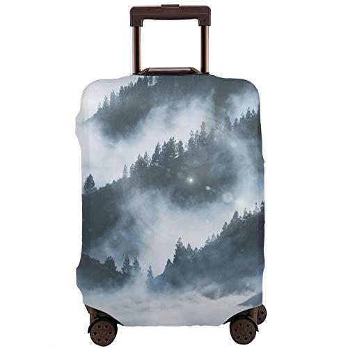 Wolf Wolves Snow Wolf - Funda protectora para equipaje de viaje, 18/24/28/32 pulgadas (sin maleta) elástica a prueba de polvo