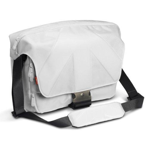 Manfrotto Stile Kollektion Unica V SLR-Kameratasche (Messenger, für DSLR mit Objektiv, Laptop bis 38,1 cm (15 Zoll), Zubehör) weiß, farblich sortiert