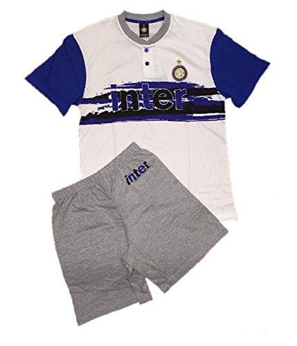 Pijama de hombre del Inter de Milán, camiseta y pantalón corto, conjunto...