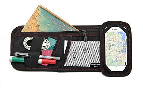 Admirable Idea Auto Sonnenblende Organizer für elektronische Zubehör, Auto Visier Zubehör, Aufbewahrungstaschen für Dokumente, CD-Karten, Sonnenbrille, Handy, USB-Kabel.