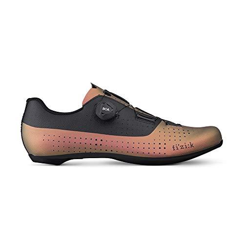 Fizik Tempo Overcurve R4 Iridescent, Zapatillas de Ciclismo Unisex Adulto, Cooper Black, 43