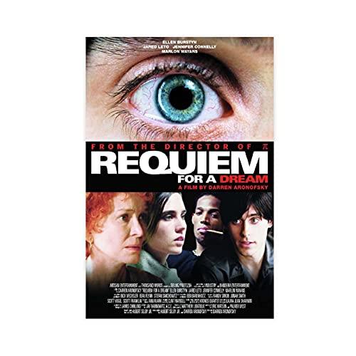 Poster sur toile de l'acteur Jennifer Connelly Requiem For A Dream - Décoration de chambre à coucher, paysage, bureau, décoration sans cadre : 30 x 45 cm