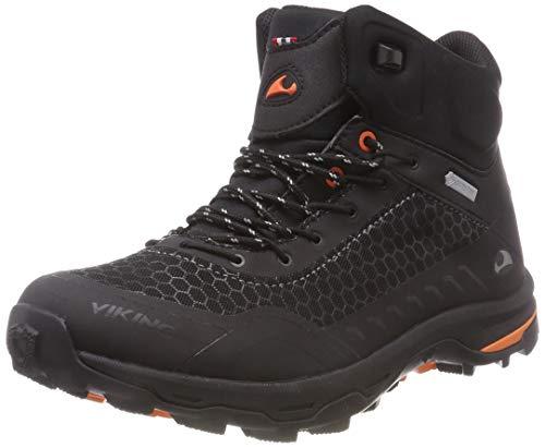 viking Unisex-Erwachsene RASK GTX M Trekking- & Wanderstiefel, Schwarz (Black/Orange 231), 43 EU