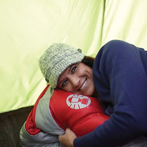 Coleman Sleeping Bag | 30°F Palmetto Sleeping Bag | Cool Weather Sleeping Bag , Red