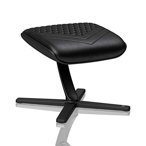 noblechairs Footrest for Gaming Chair - Office Chair - Real Leather - Footrest - Practical Adjustment - 360° Rotatable - 57° Tiltable - Black chair footrest gaming