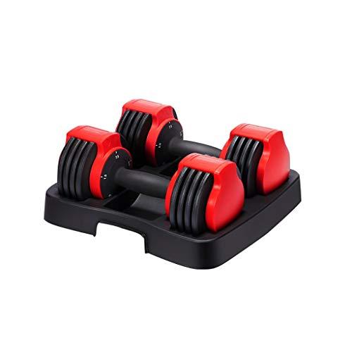 WFS Pesas Gimnasio Mancuernas Ajuste Rápido Pesar Pesas De Peso Set Barra 3-15Kg Ajustable con Mancuernas con Bandeja Adecuado For Entrenamiento De Fitness Musculación (tamaño : 15KG/34lb)