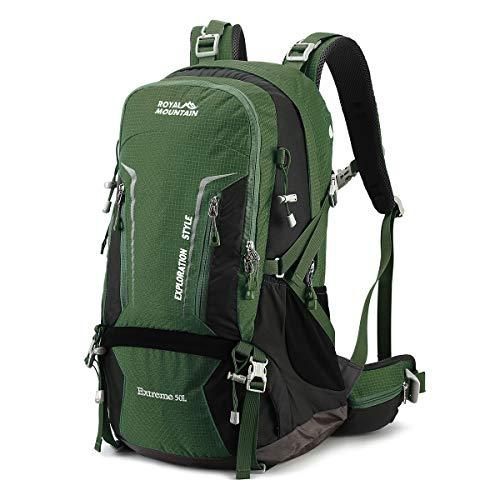 LOCALLION Zaino da Trekking Montagna 40 Litri Zaino 40L Escursionismo Campeggio Viaggio Hiking Uomo Donna Unisex Impermeabile Leggero Outdoor Sport in Nylon (Verde)