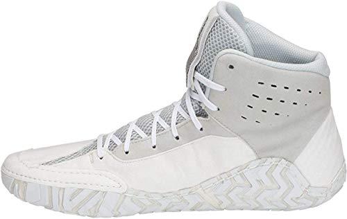 ASICS Aggressor 4 Men's Wrestling Shoes, White/Black, Size 13