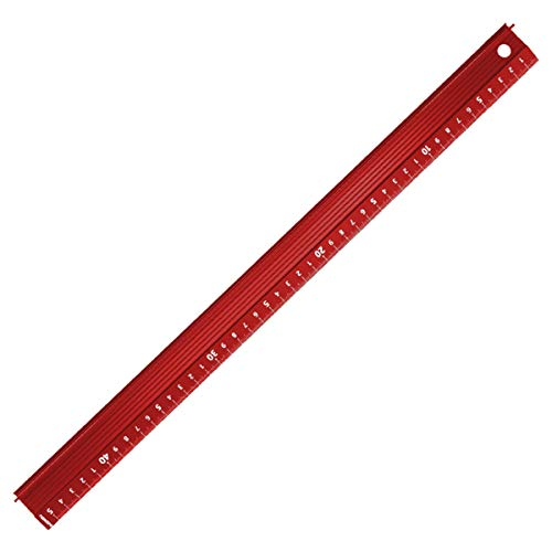 カッターガイド I3Cカッター定規 曲尺 アルミスケール カッティング定規 カット カッターガイド 裁断定規 カッター用 アルミニウム合金製 赤 45CM