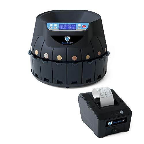 Münzzähler Euro SR1850 mit Drucker Securina24® (schwarz mit Drucker)