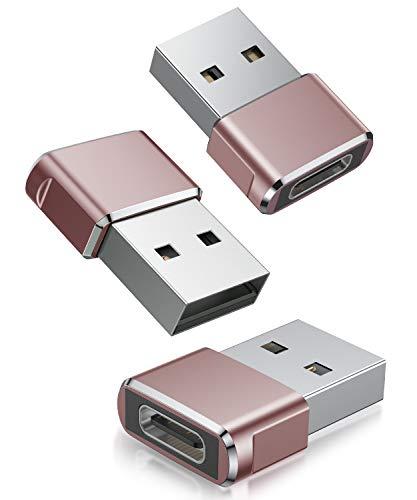 Adaptador USB C Hembra a USB Macho (3 Pack),Adaptador de Cable de...