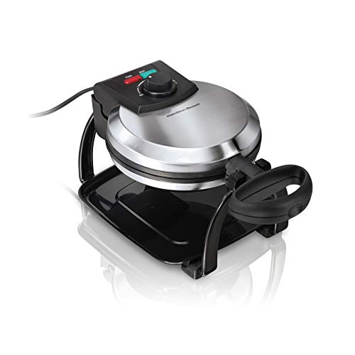 Hamilton Beach Flip Belgian Waffle Maker with Browning Control, Non-Stick Grids, Indicator Lights,...