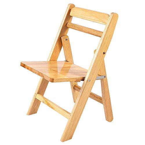 Tabouret pliant en bois massif-HJCA820, fauteuil de maison simple, mode, extérieur créatif en plein air portable, chaise pliante (33,5 × 33,5 × 57 cm)