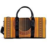 Bolsa deportiva para gimnasio, diseño de roseta de guitarra clásica, bolsa de hombro, bolsa de viaje, bolsa de viaje para hombres y mujeres