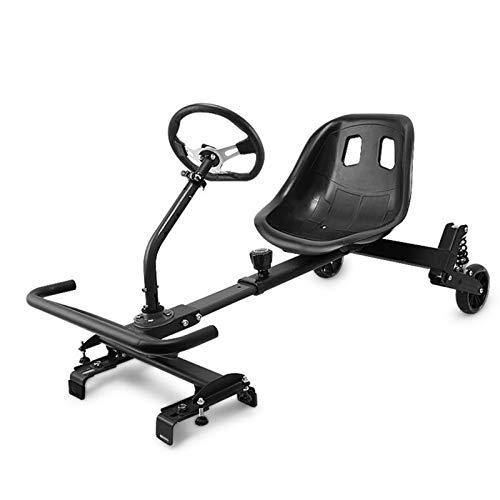 YAHAO Hoverkart para Hoverboard, Silla De Hoverboard, Asiento Hoverkart Go-Kart Silla Kart para Electric Self Balancing Scooter, Compatible con 6.5, 8 Y 10 Pulgadas,Black