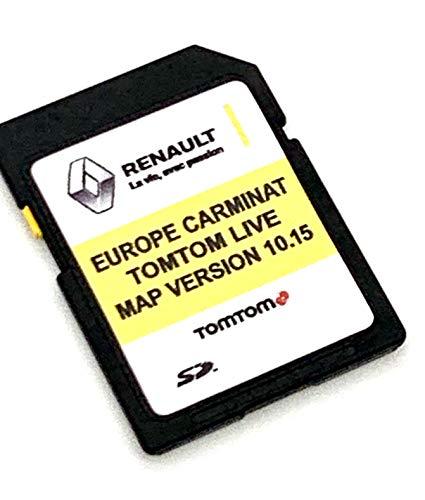 SD Karte für Renault Tom Tom Live Carminat 2020 SD Karte Navi Karte Update Version 10.15 Cover All Europe Part Number: 39921-54PA4