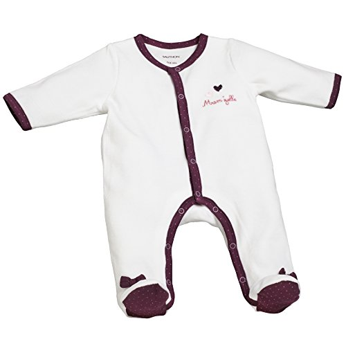 Pyjama bébé blanc 1 mois Mam'zelle Bou - Sauthon