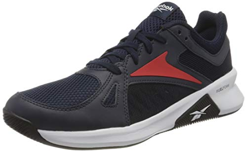 Reebok Advanced Trainer, Scarpe da Ginnastica Uomo, Power Navy/Vector Navy/Instinct Red, 42 EU