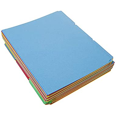 Amazon Basics File Folders – Letter Size (100 Pack) – Assorted Colors