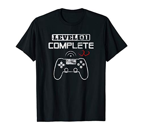 Level 1 Complete 1st Wedding Anniversary First Year Him Her T-Shirt