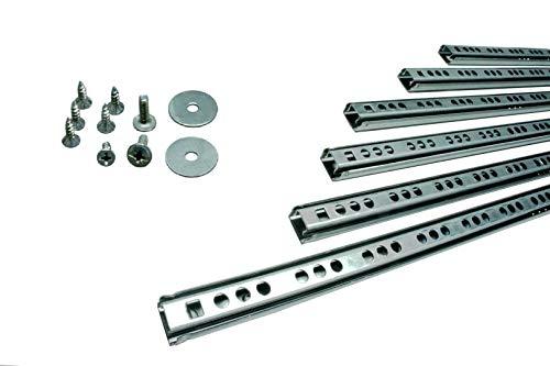 BRESKO 1 Paar (2 Stk.) 17 mm Schubladenschienen 25-50 cm Teilauszug Schubladenauszüge Kugelführung (278 mm)