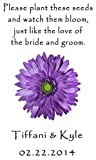 Wedding Wildflower Seed (seeds included) Packet Favors 100 qty. Personalized-Purple Daisy Design 6 verses to choose