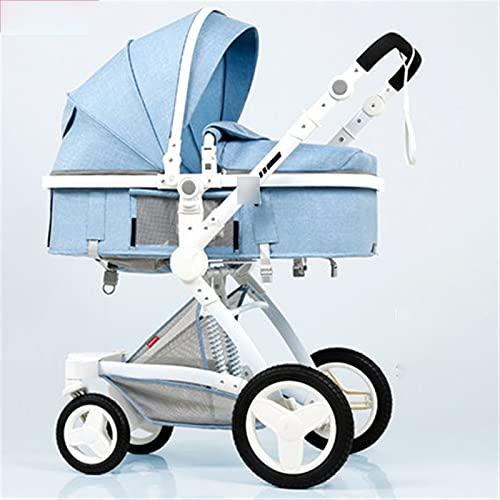 HZPXSB Lujo 3 en 1 Cochecito de Cochecito de bebé High Landscape 2 en 1 PRAM Ducha Way Kid Car Suite para Mientras Y Asiento (Color : X6 8)