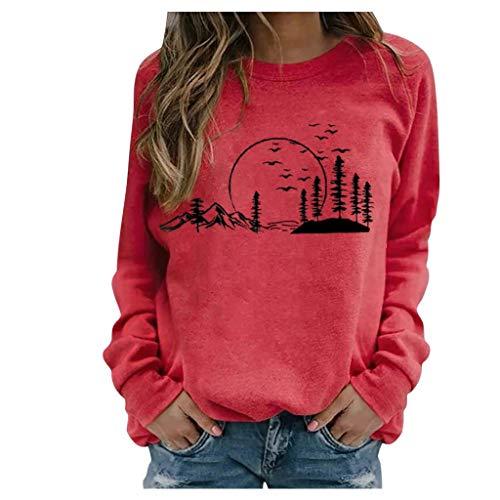 Oberteile Damen Bauchfrei Sport BH Jogginganzug Herren Sommer jacken Frauen günstig Yoga t-Shirts t-Shirt (Red S)