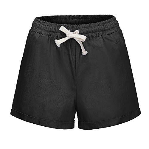 N\P Verano de las Señoras Casual Pantalones Cortos de Deportes de las Mujeres Casual Cordón Deportes de